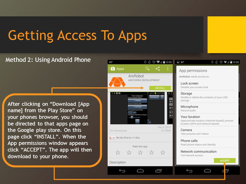 Getting Access To Apps Method 2: Using Android Phone