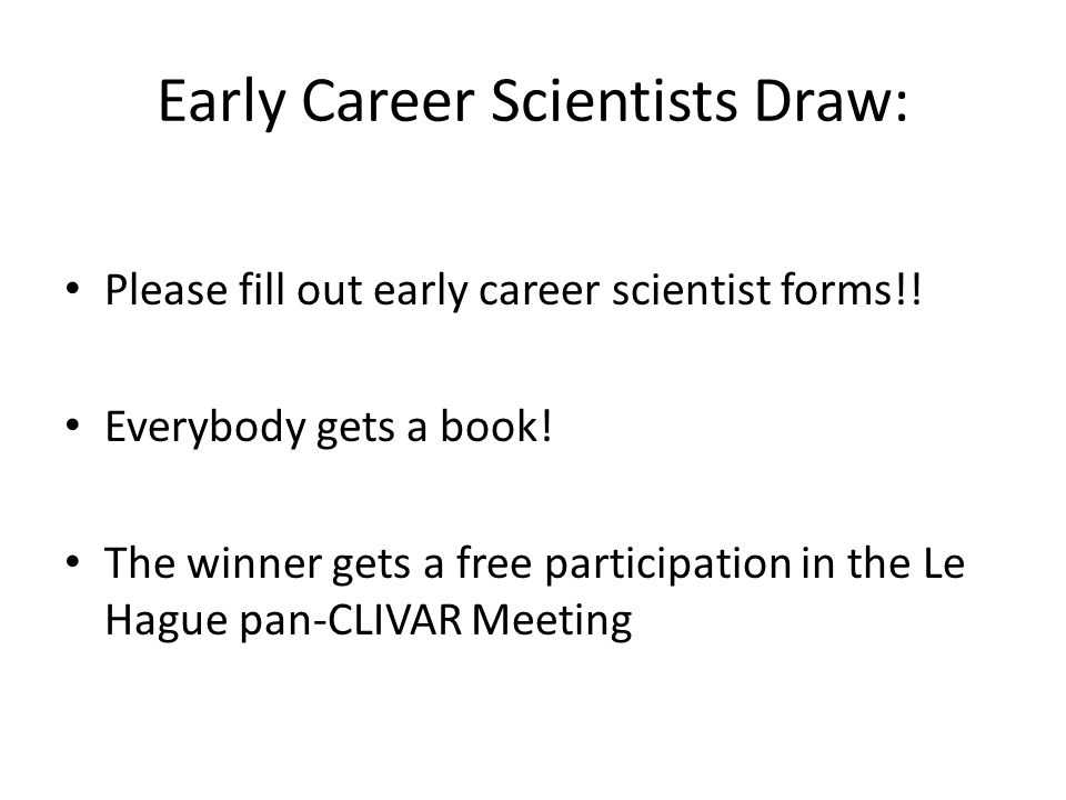 Early Career Scientists Draw:
