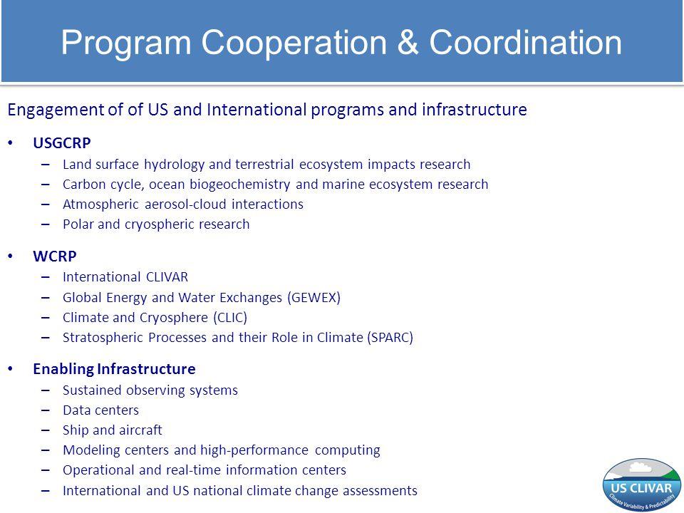 Program Cooperation & Coordination
