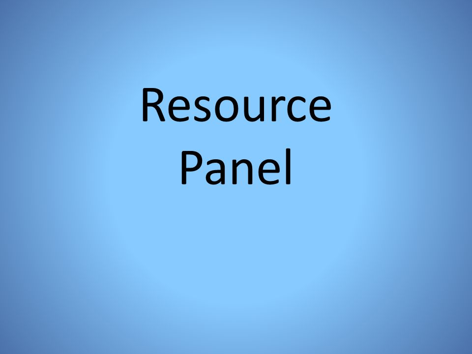 Resource Panel