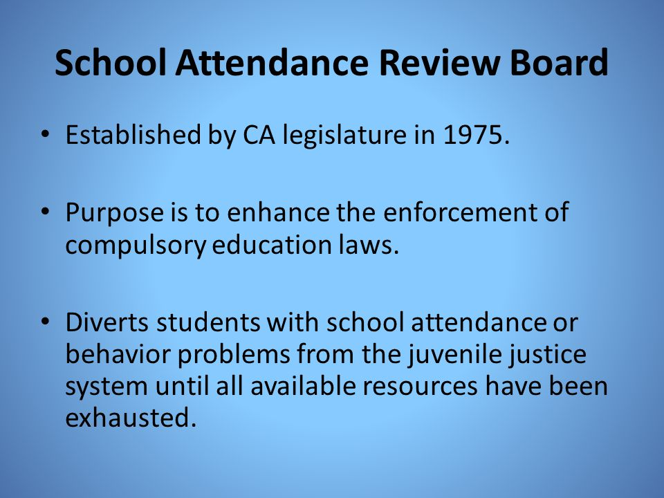 School Attendance Review Board