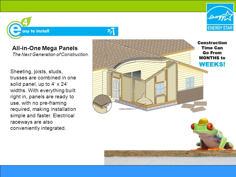 All-in-One Mega Panels The Next Generation of Construction.
