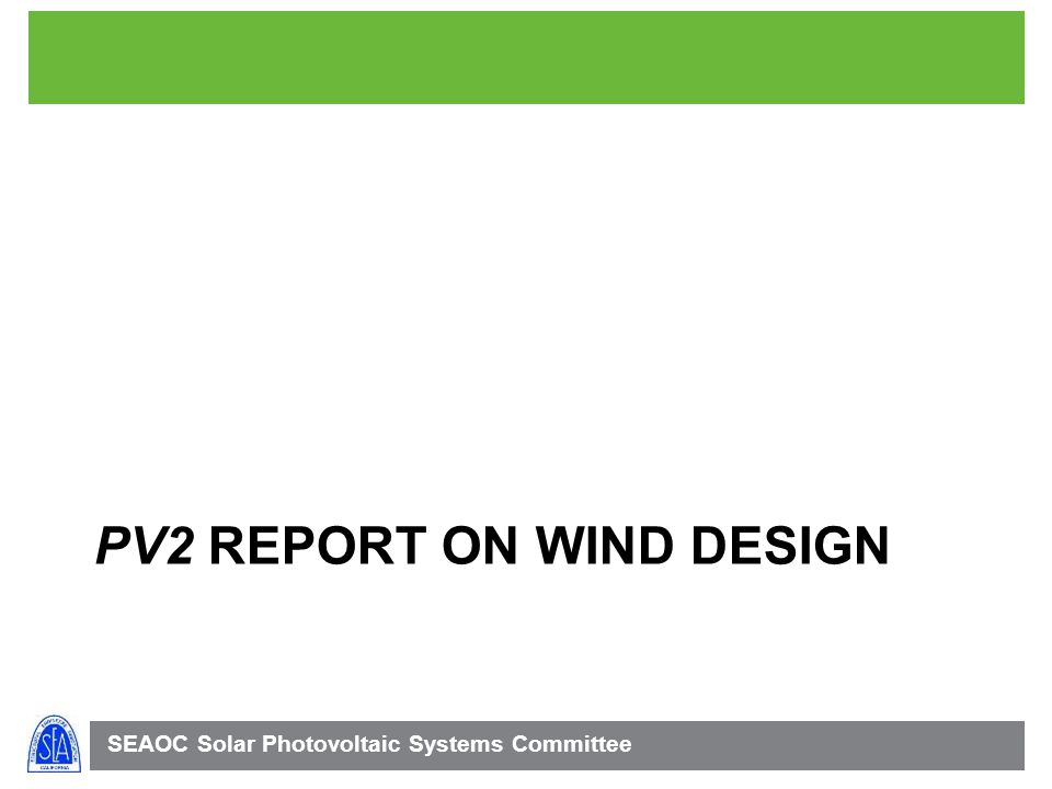 PV2 report on wind design