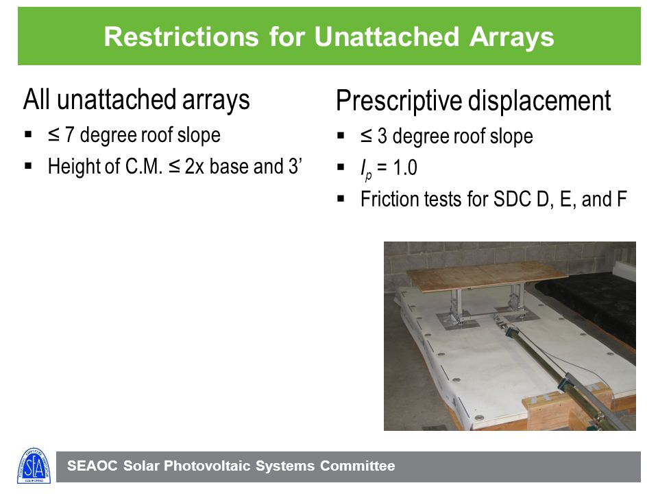 Restrictions for Unattached Arrays