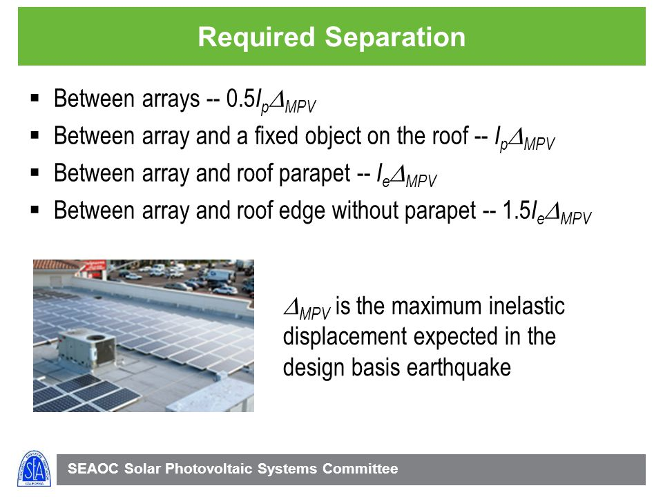 Required Separation Between arrays -- 0.5IpDMPV