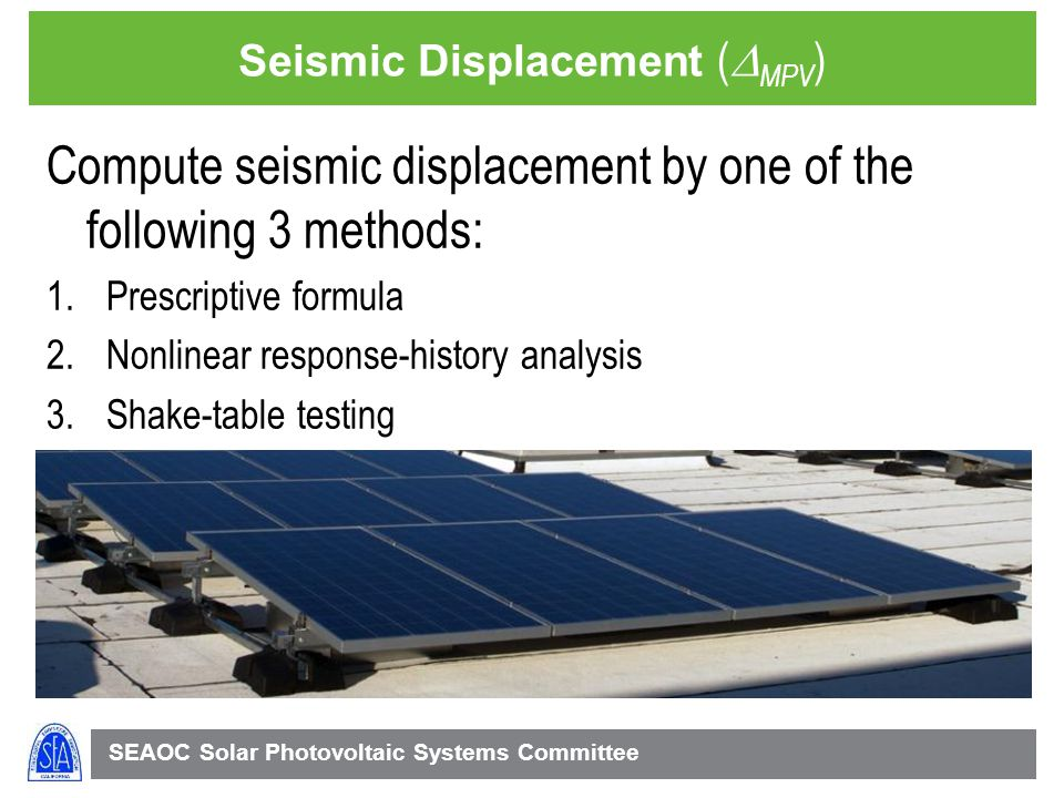 Seismic Displacement (DMPV)