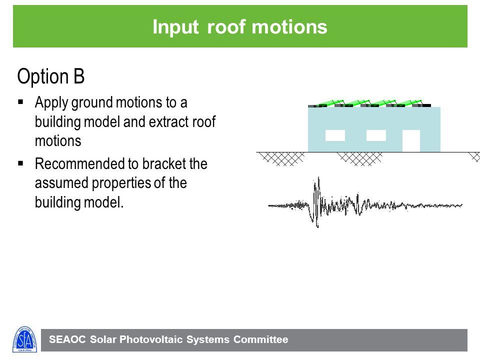 Option B Input roof motions