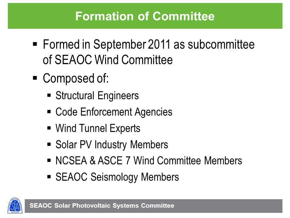 Formation of Committee