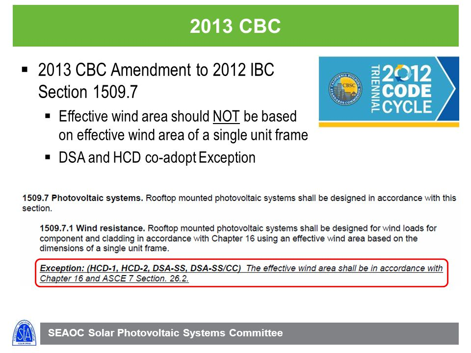 2013 CBC 2013 CBC Amendment to 2012 IBC Section 1509.7