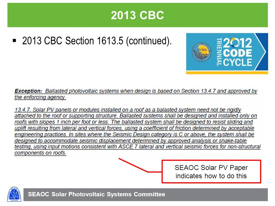 SEAOC Solar PV Paper indicates how to do this