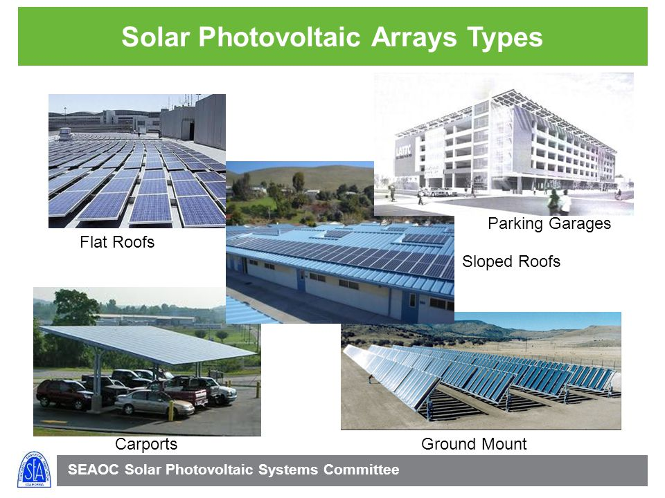 Solar Photovoltaic Arrays Types