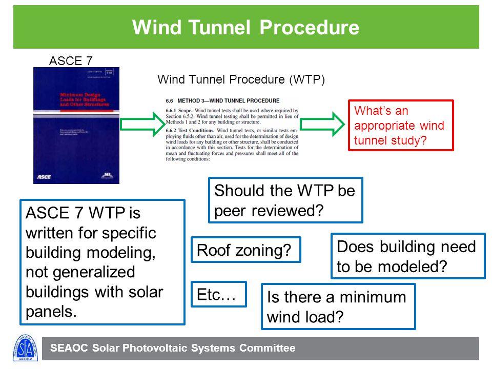 Wind Tunnel Procedure Should the WTP be peer reviewed