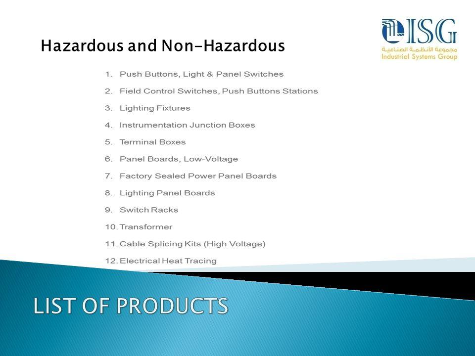Hazardous and Non-Hazardous