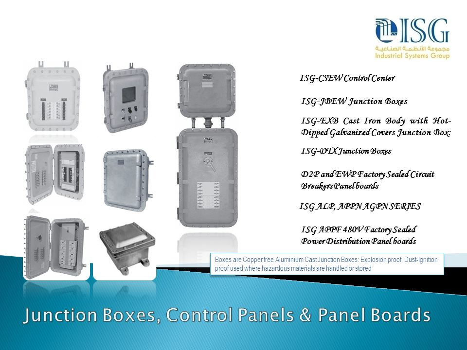 Junction Boxes, Control Panels & Panel Boards