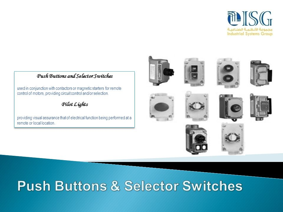 Push Buttons and Selector Switches