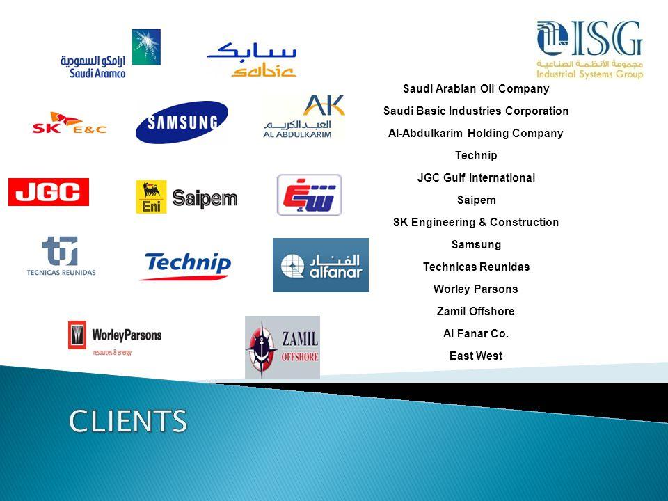 CLIENTS Saudi Arabian Oil Company Saudi Basic Industries Corporation