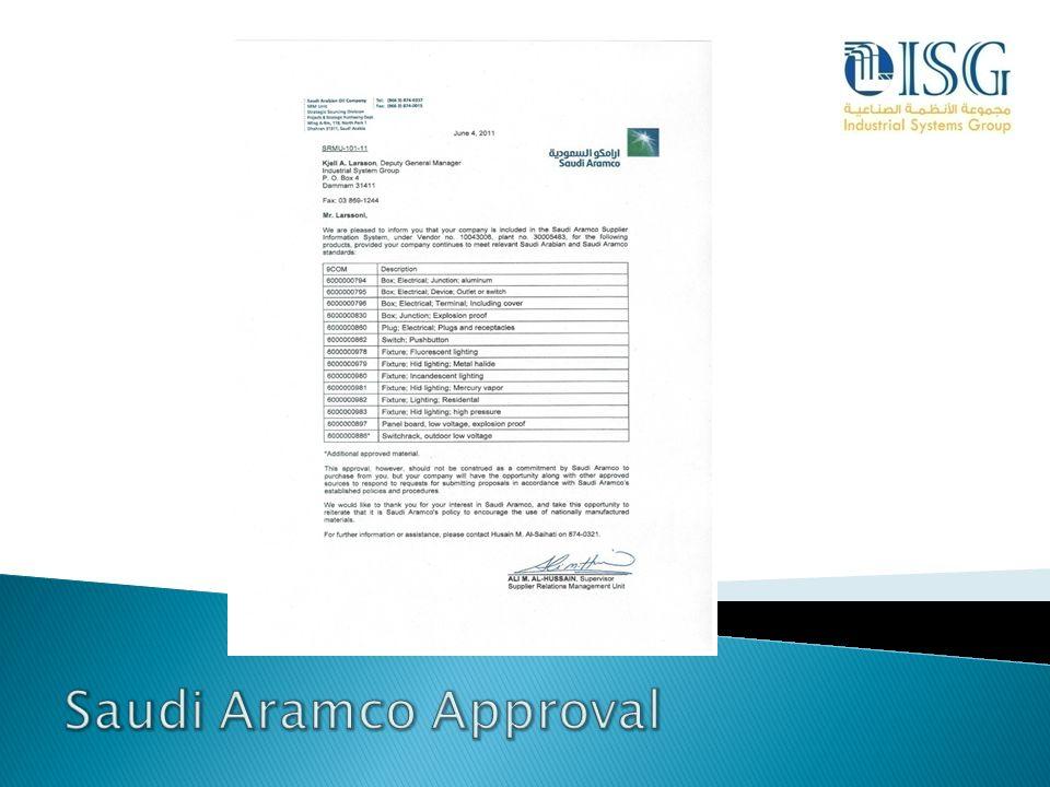 Saudi Aramco Approval