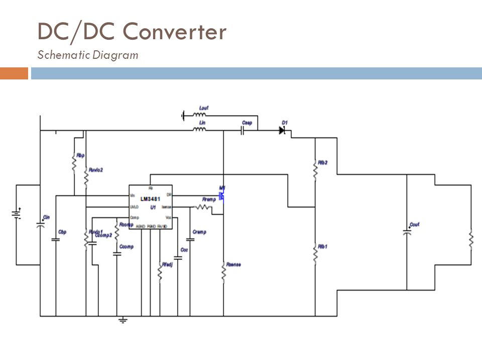 DC/DC Converter Schematic Diagram