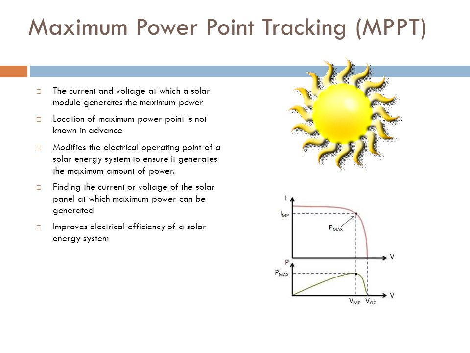 Maximum Power Point Tracking (MPPT)