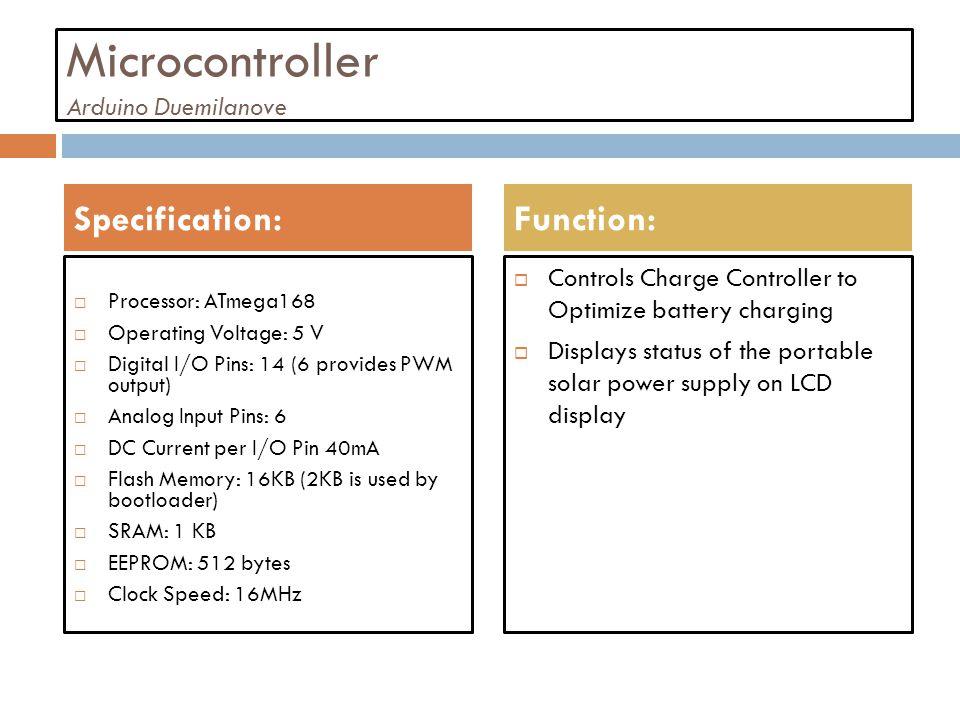 Microcontroller Arduino Duemilanove