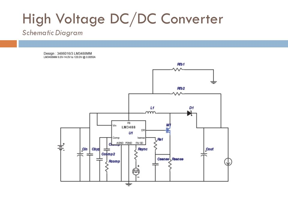 High Voltage DC/DC Converter Schematic Diagram