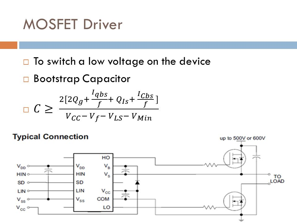 MOSFET Driver To switch a low voltage on the device