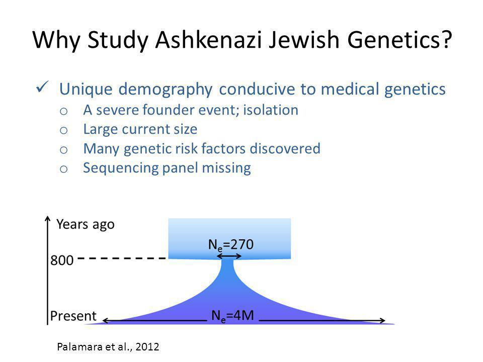 Why Study Ashkenazi Jewish Genetics