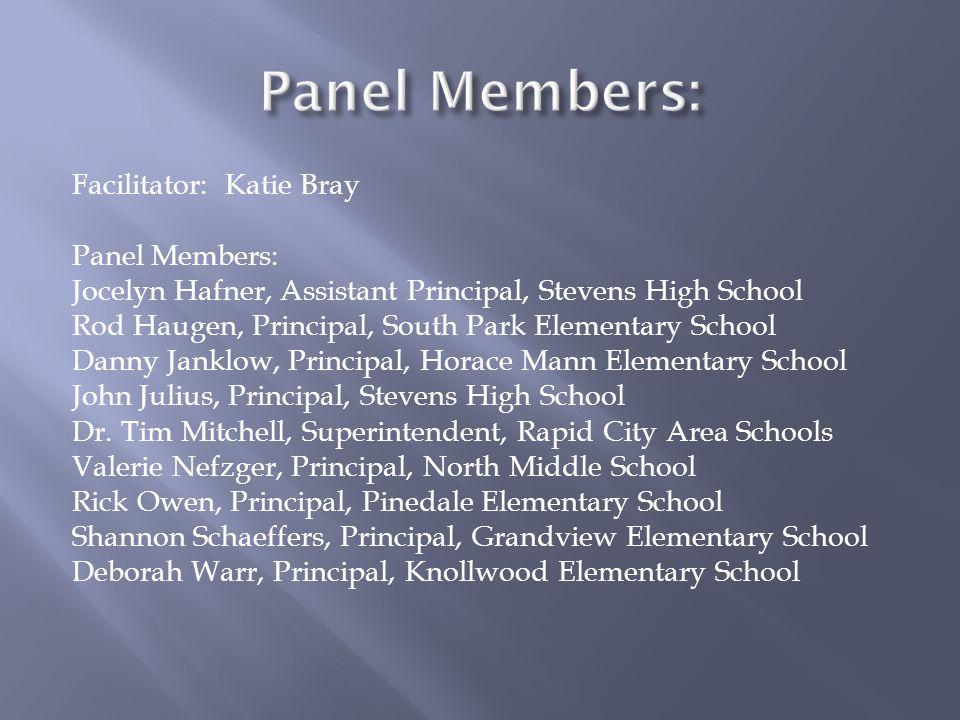 Panel Members: