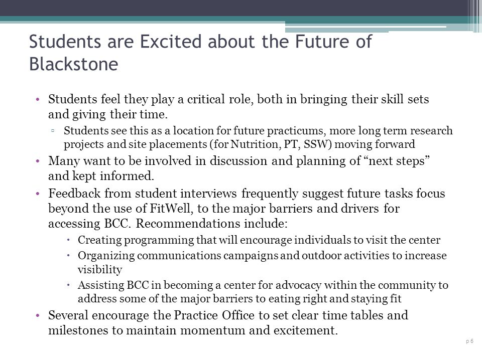 Students are Excited about the Future of Blackstone
