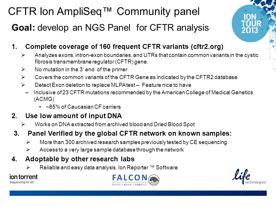 CFTR Ion AmpliSeq™ Community panel