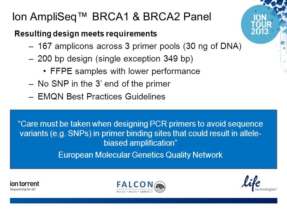 Ion AmpliSeq™ BRCA1 & BRCA2 Panel