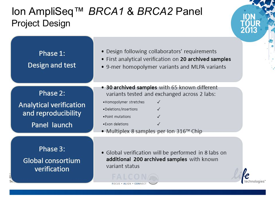 Ion AmpliSeq™ BRCA1 & BRCA2 Panel Project Design