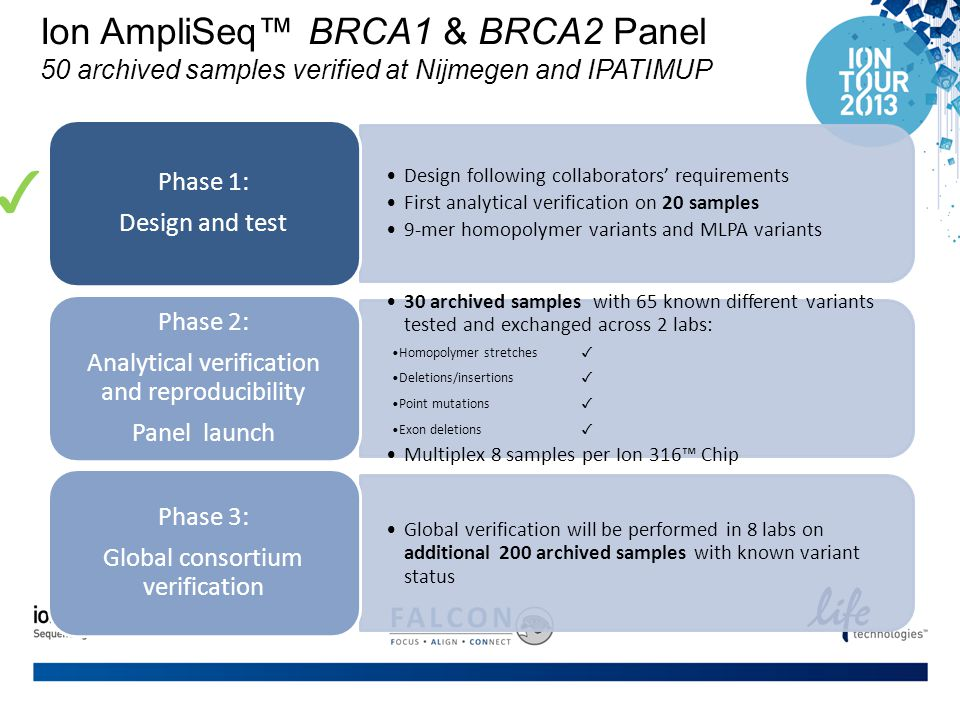 Ion AmpliSeq™ BRCA1 & BRCA2 Panel 50 archived samples verified at Nijmegen and IPATIMUP