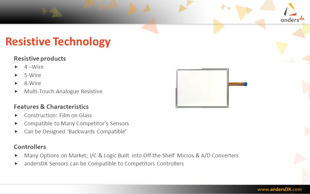 Resistive Technology Resistive products Features & Characteristics
