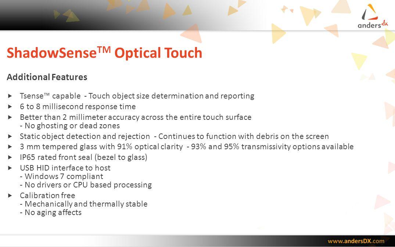 ShadowSenseTM Optical Touch