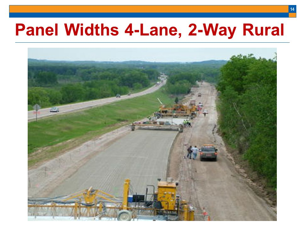 Panel Widths 4-Lane, 2-Way Rural