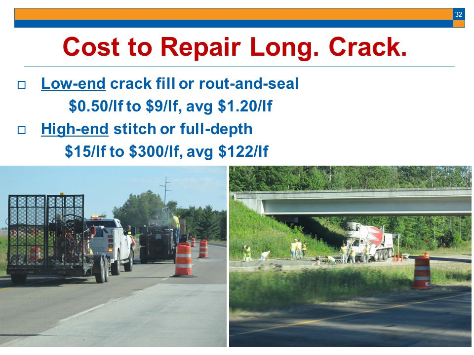Cost to Repair Long. Crack.