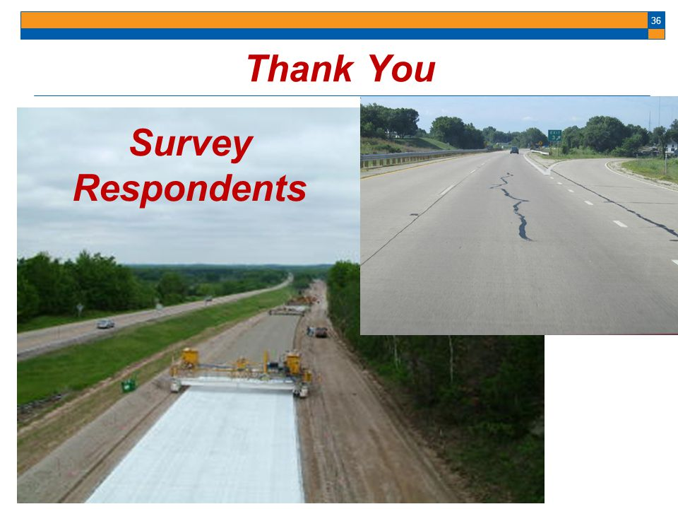 Thank You Survey Respondents
