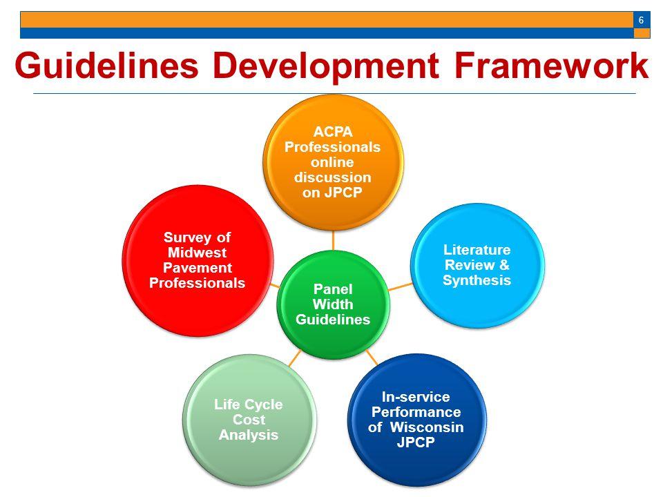 Guidelines Development Framework