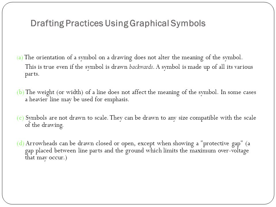 Drafting Practices Using Graphical Symbols