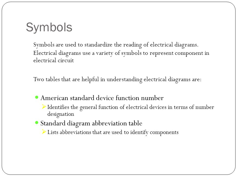 Outstanding Electric Component Symbols Adornment - Electrical and ...