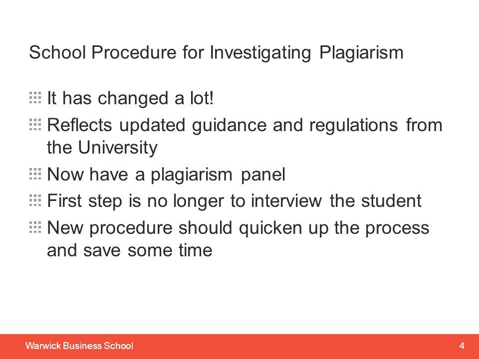 School Procedure for Investigating Plagiarism
