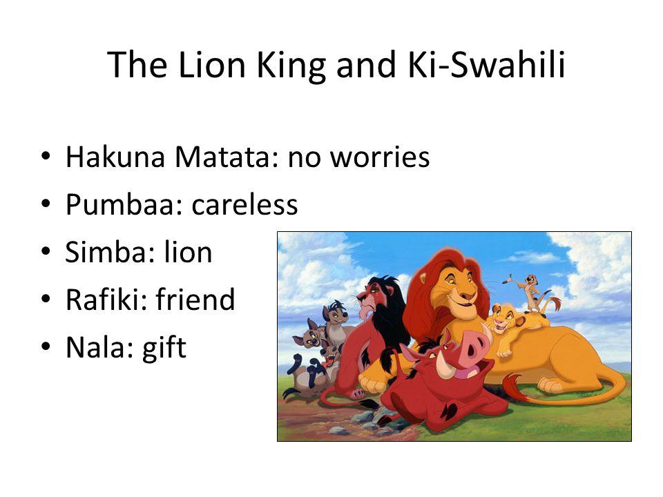 The Lion King and Ki-Swahili