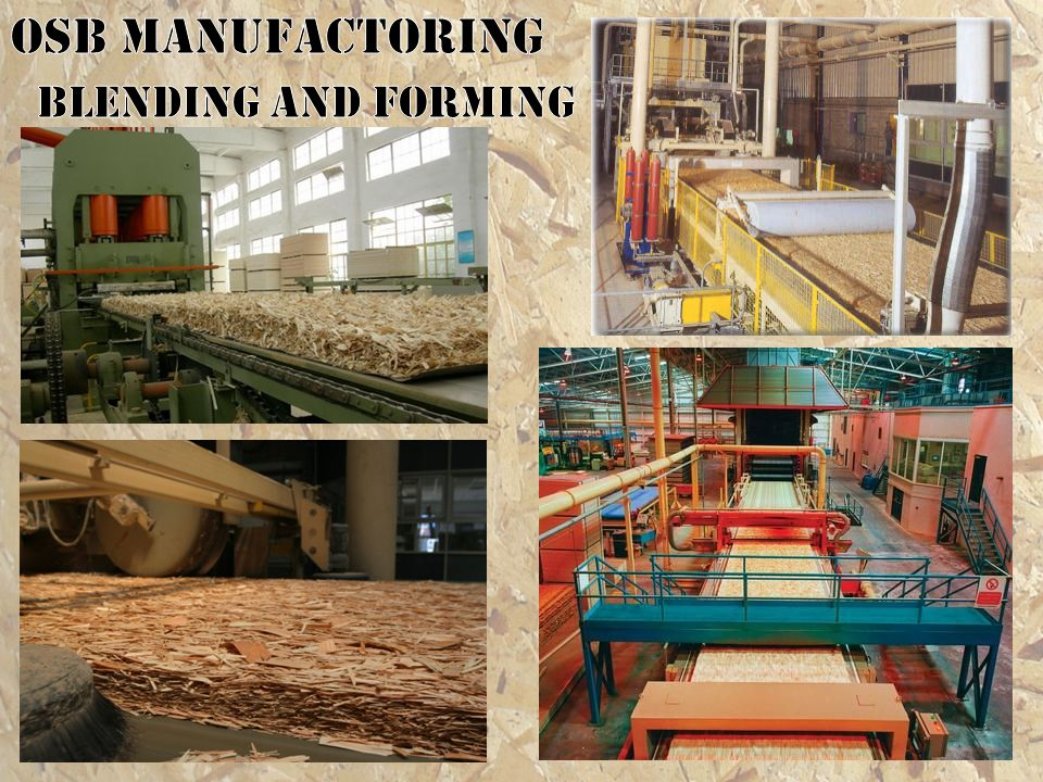 OSB MANUFACTORING Blending and forming