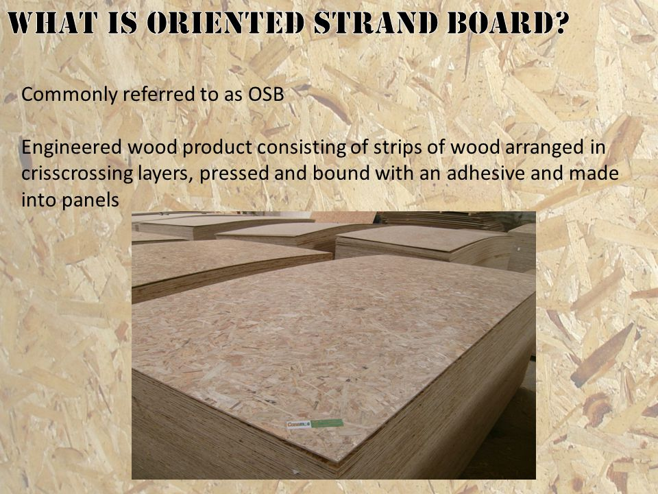 What is oriented strand board