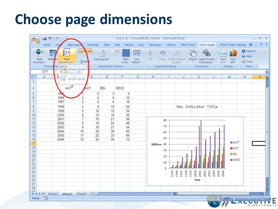 Choose page dimensions