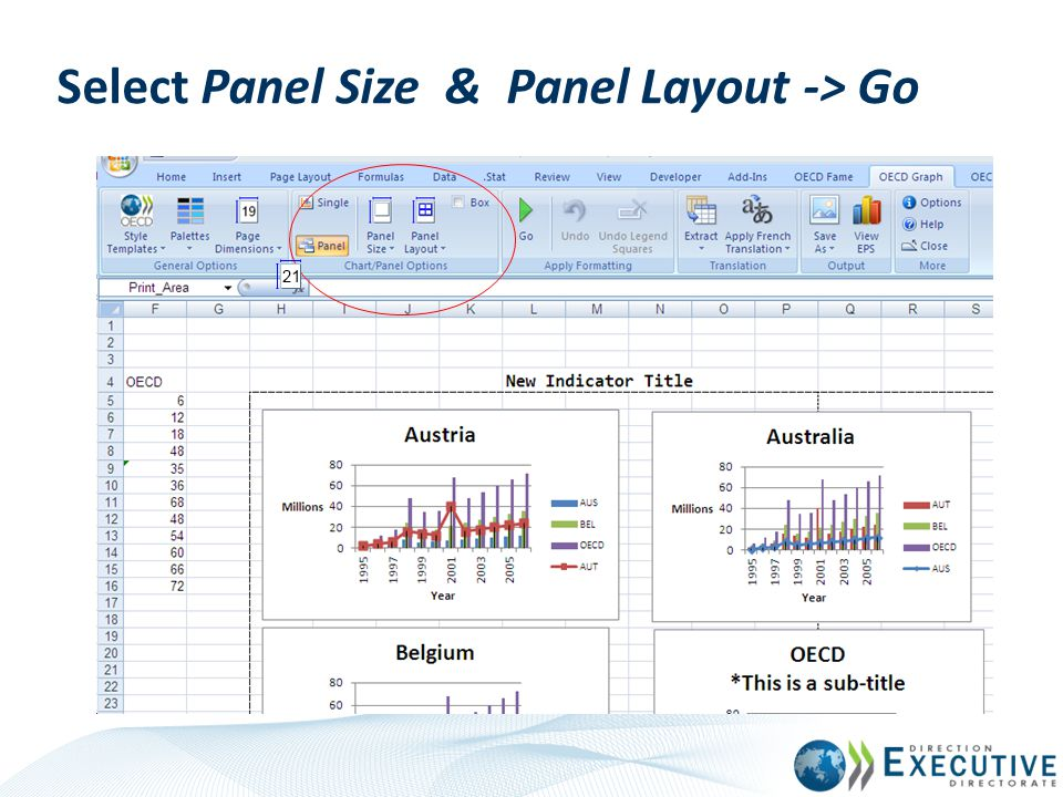 Select Panel Size & Panel Layout -> Go
