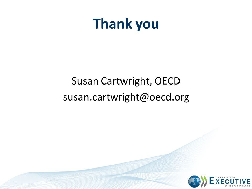 Susan Cartwright, OECD susan.cartwright@oecd.org