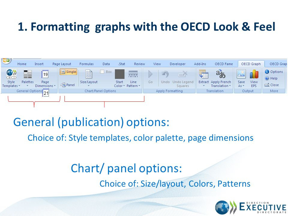 1. Formatting graphs with the OECD Look & Feel