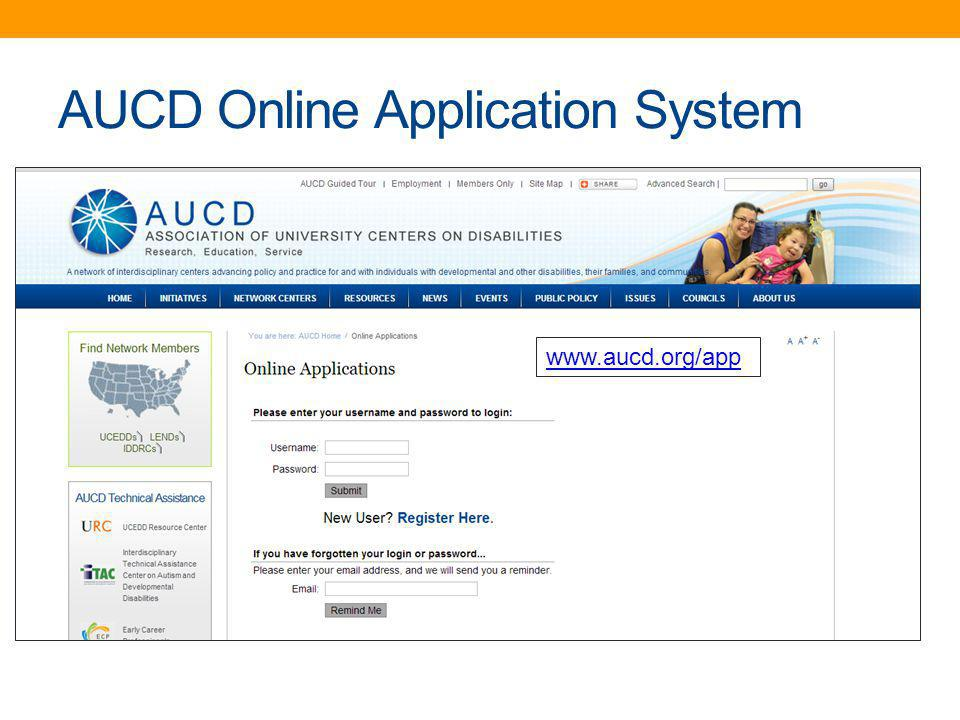 AUCD Online Application System